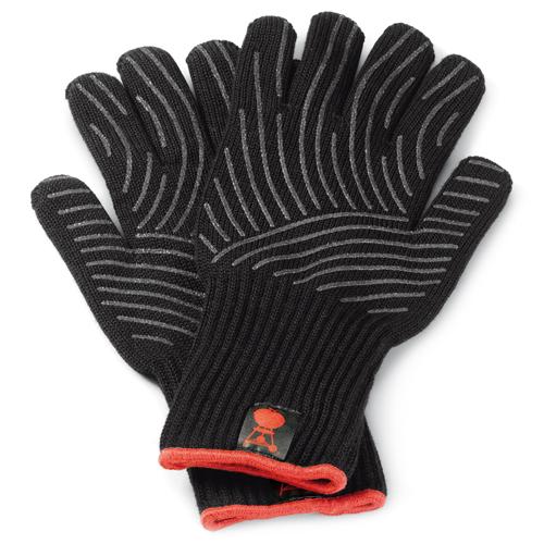 Grilovací rukavice L/XL, sada 2 ks Weber se silikonovou plochou (L/XL), černé