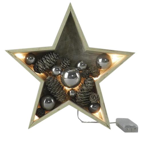 Dekorační hvězda Idena rozměr 28 x 6,5 cm