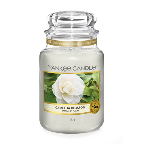 Svíčka ve skleněné dóze Yankee Candle Květ kamélie, 623 g
