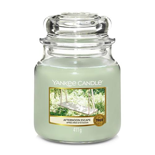 Svíčka ve skleněné dóze Yankee Candle Odpolední únik, 410 g