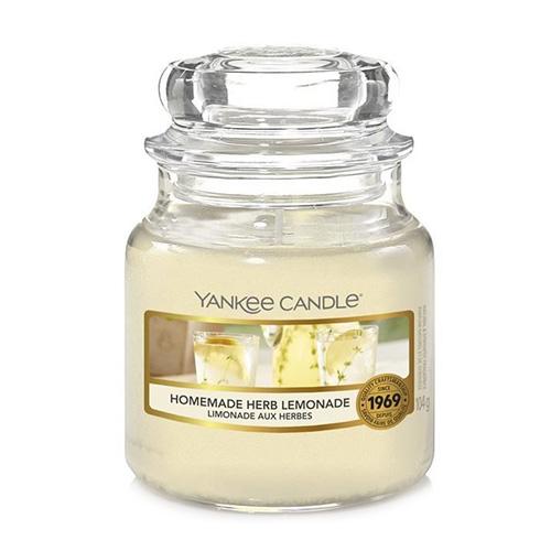 Svíčka ve skleněné dóze Yankee Candle Domácí bylinková limonáda, 104 g