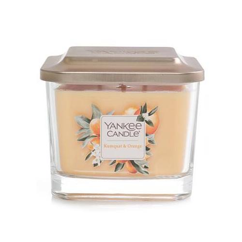 Svíčka ve skleněné váze Yankee Candle Kumquat a pomeranč, 347 g