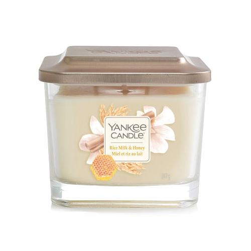 Svíčka ve skleněné váze Yankee Candle Rýžové mléko s medem, 347 g