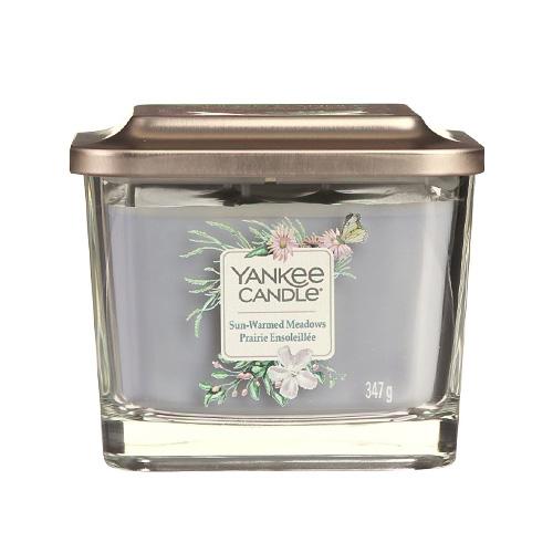 Svíčka ve skleněné váze Yankee Candle Louka prohřátá sluncem, 347 g