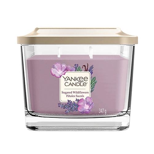 Svíčka ve skleněné váze Yankee Candle Cukrové divoké květy, 347 g