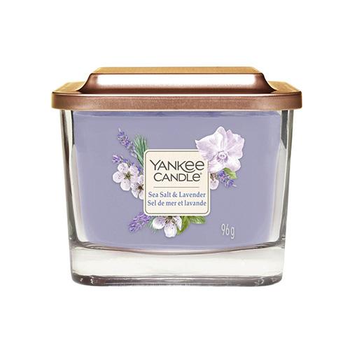 Svíčka ve skleněné váze Yankee Candle Mořská sůl a levandule, 96 g