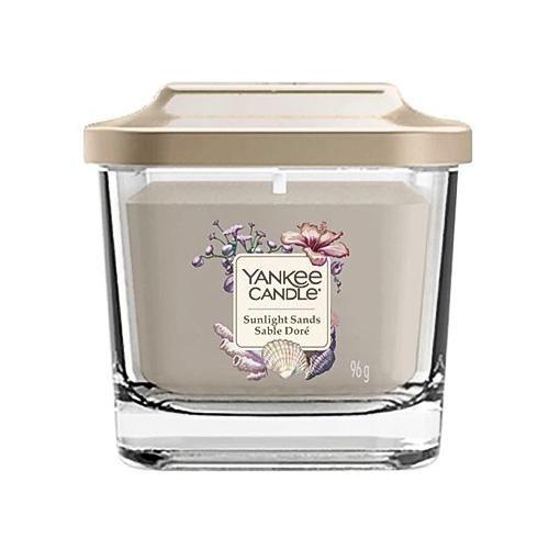 Svíčka ve skleněné váze Yankee Candle Sluneční písky, 96 g