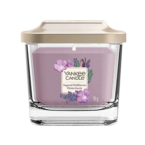 Svíčka ve skleněné váze Yankee Candle Cukrové divoké květy, 96 g