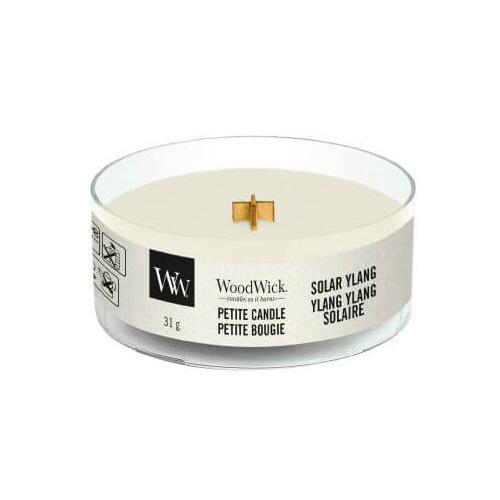 Drobná svíčka WoodWick Sluneční ylang, 31 g