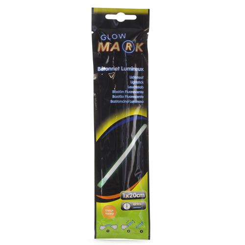 Svíticí proužek Glow Mark oranžový, obsahuje 1 ks, 1 x 20 cm