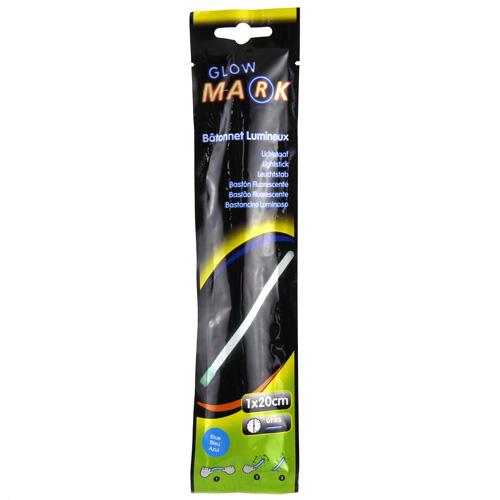 Svíticí proužek Glow Mark 20x1cm, modrý