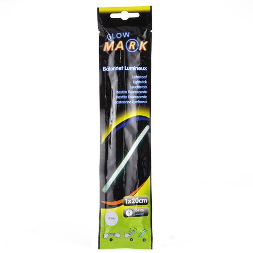 Svíticí proužek Glow Mark 20x1cm, světle modrý