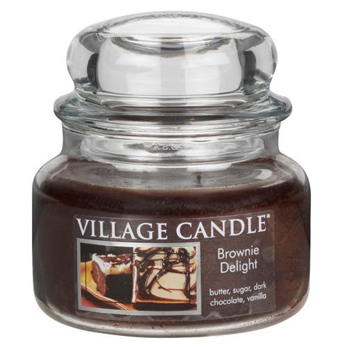 Svíčka ve skleněné dóze Village Candle Čokoládový dortík, 312 g