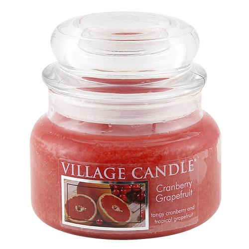 Svíčka ve skleněné dóze Village Candle Brusinka a grep, 312 g