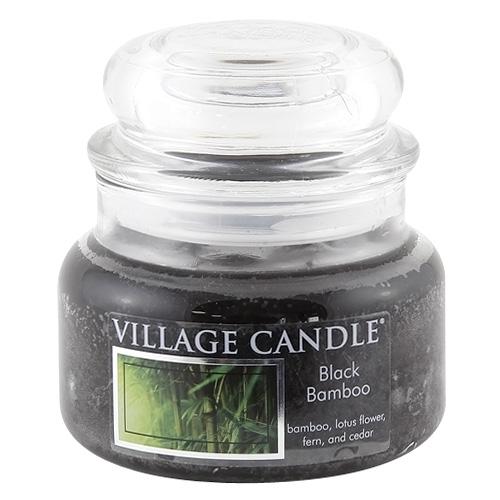 Svíčka ve skleněné dóze Village Candle Černý bambus, 312 g