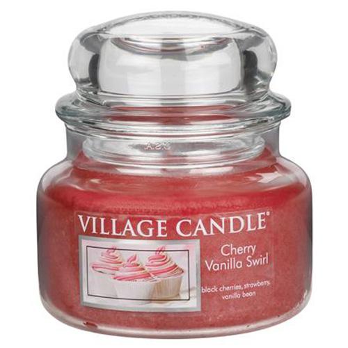 Svíčka ve skleněné dóze Village Candle Višeň a vanilka, 312 g