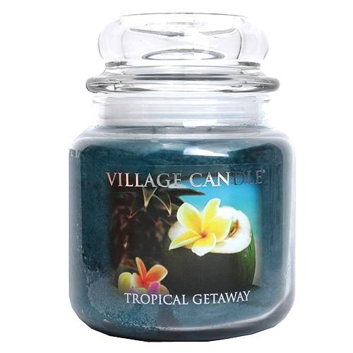 Svíčka ve skleněné dóze Village Candle Víkend v tropech, 454 g