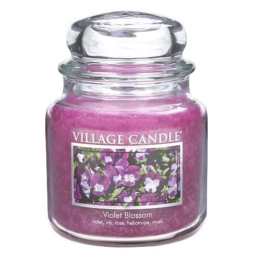 Svíčka ve skleněné dóze Village Candle Fialka, 454 g