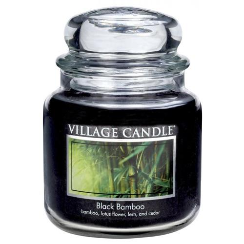 Svíčka ve skleněné dóze Village Candle Černý bambus, 454 g