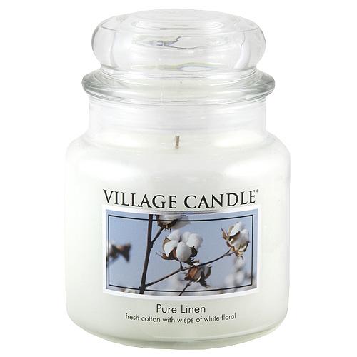 Svíčka ve skleněné dóze Village Candle Čisté prádlo, 454 g