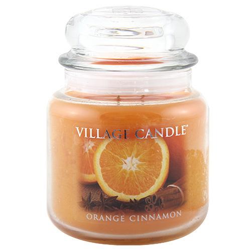 Svíčka ve skleněné dóze Village Candle Pomeranč a skořice, 454 g