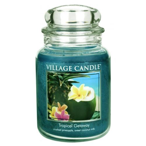 Svíčka ve skleněné dóze Village Candle Víkend v tropech, 737 g
