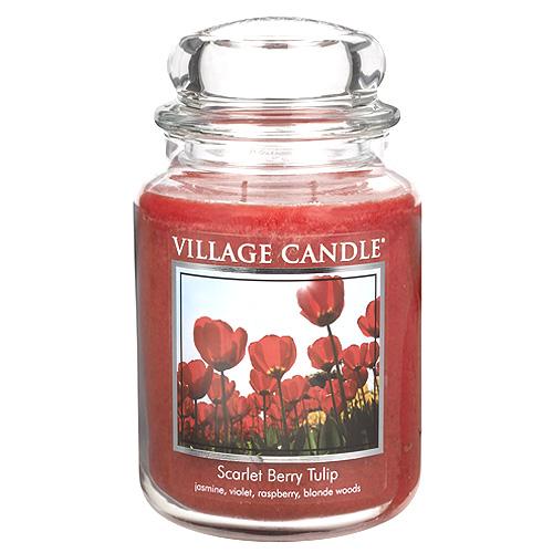 Svíčka ve skleněné dóze Village Candle Tulipány, 737 g