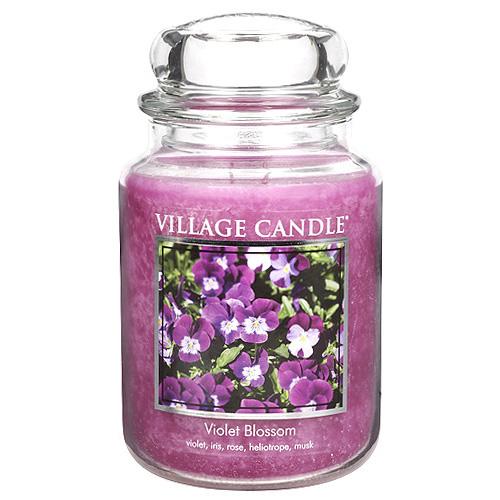 Svíčka ve skleněné dóze Village Candle Fialka, 737g
