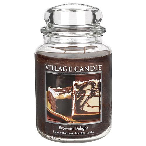 Svíčka ve skleněné dóze Village Candle Čokoládový dortík, 737 g