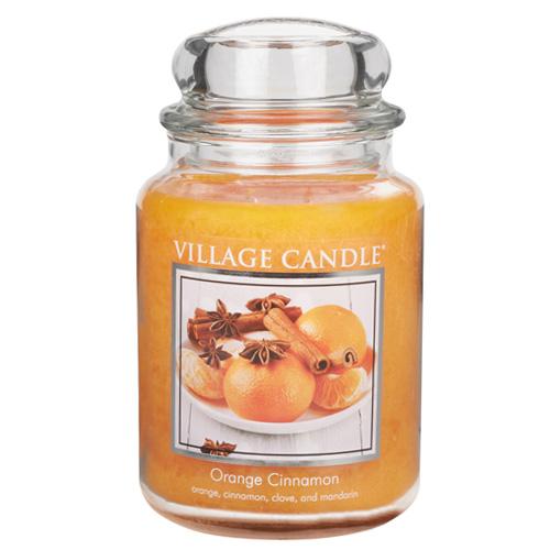 Svíčka ve skleněné dóze Village Candle Pomeranč a skořice, 737 g