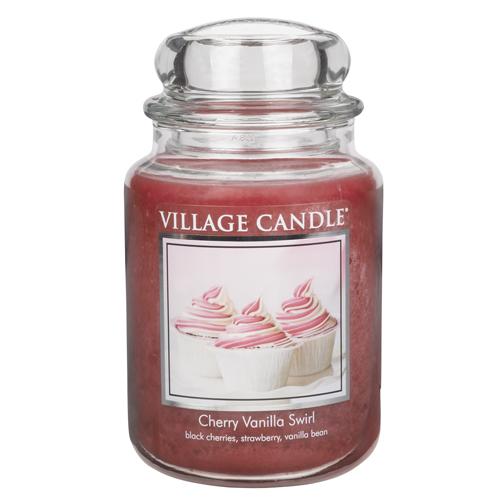 Svíčka ve skleněné dóze Village Candle Višeň a vanilka, 737 g