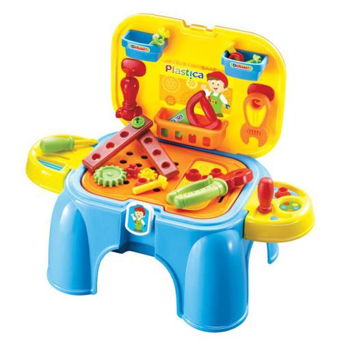 Plastica Pracovní ponk / Židlička Pracovní stolek pro malé kutili je vybaven vším potřebným ná