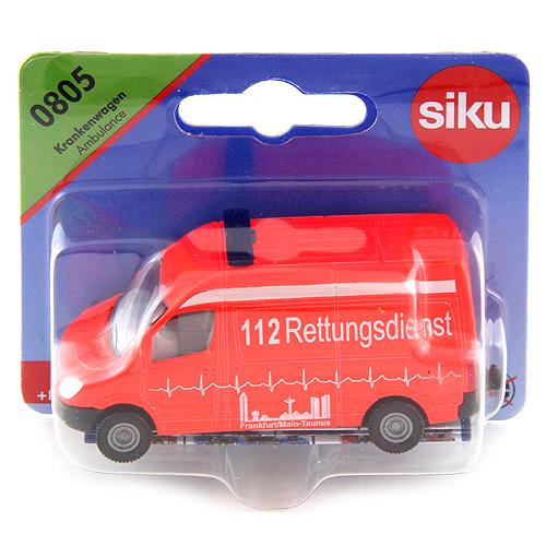 Ambulance SIKU Mercedes/červený