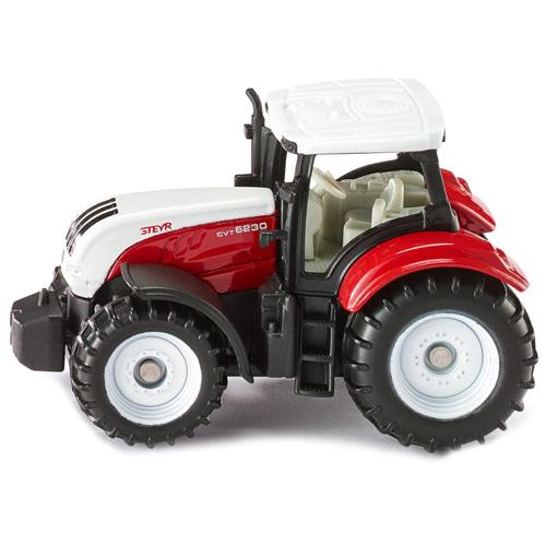 Traktor SIKU Steyr, bílo/červený