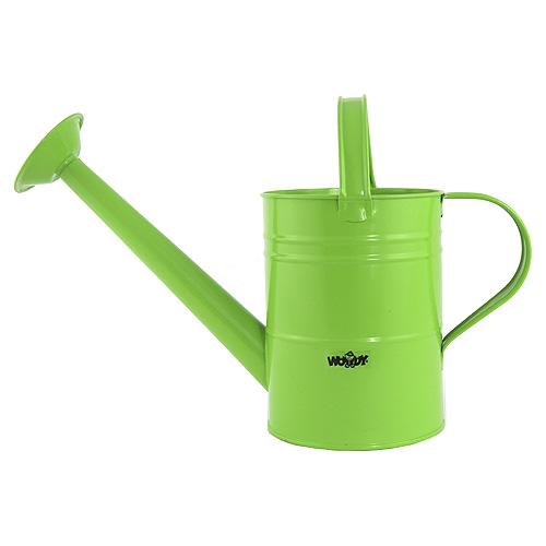 Zahradní konev Woody Zelená - kovová s kropítkem