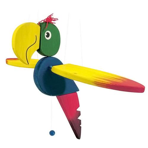 Létající papoušek Woody Dřevěný