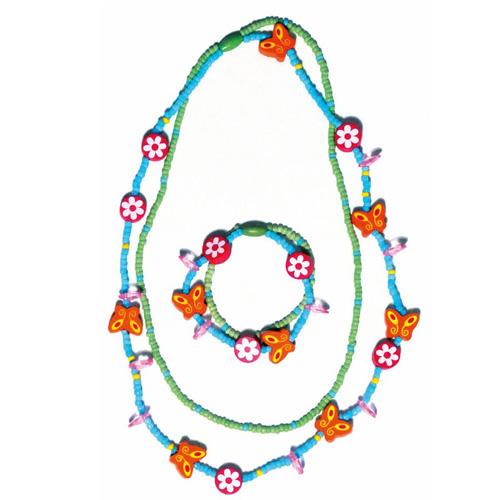 Souprava náhrdelník a náramek Woody Set 2 x 2 ks