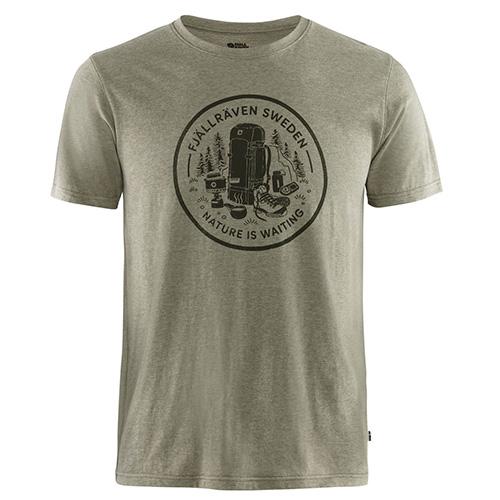 Fjällräven Fikapaus T-shirt M Light Olive-Melange | 622-999 | XL