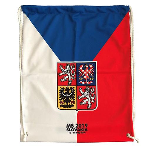 Vak Jersey53 Česko - styl vlajka | Červená | Objem 20 l