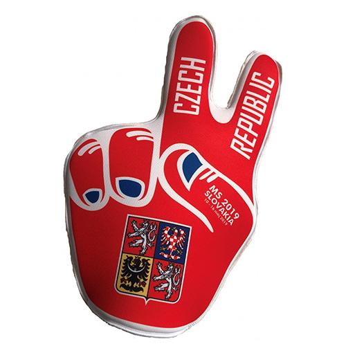 Fandící ruka Jersey53 Česko | Červená | UNIVERZÁLNÍ