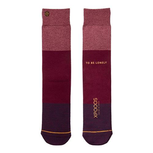 Ponožky XPOOOS Essential Bamboo | Červená | 43-46 EUR