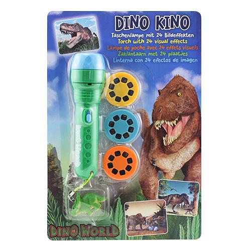 Projekční svítilna Dino World ASST Zelená s přívěskem Triceratopse, 24 obrázků