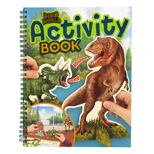 Omalovánky, šešit aktivit Dino World Activity Book