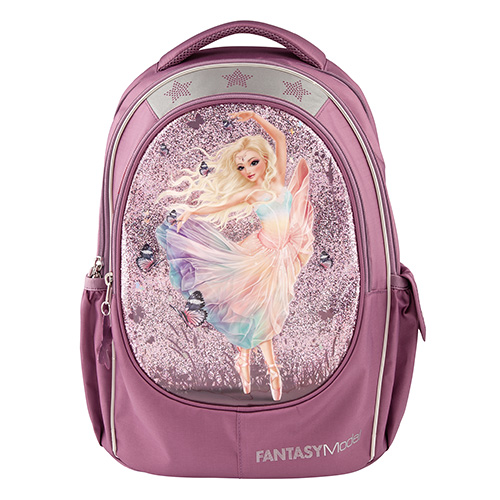 Školní batoh Fantasy Model Víla baletka, světle růžový s glitry