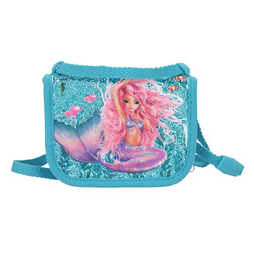 Kapsička na krk Fantasy Model Mořská panna, tyrkysová s glitry