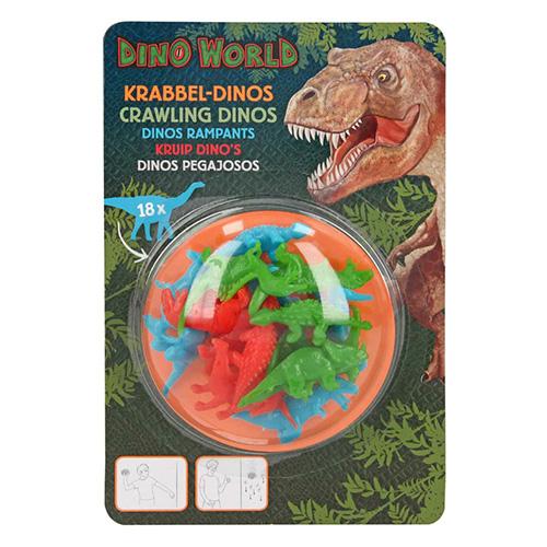 Plazící se dinosauři Dino World 18 ks, barva zelená, modrá, červená