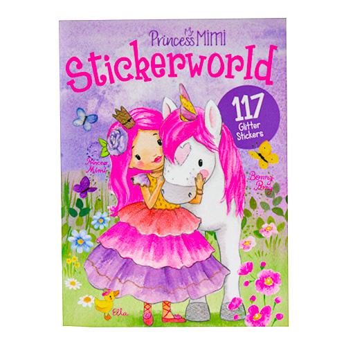 Kreativní sešit Princess Mimi Princezna Mimi a Bonny Pony, 117 třpytivých samolepek