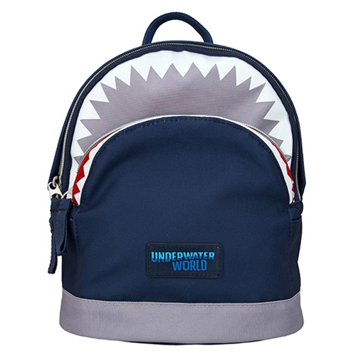 Dino World Batůžek Underwater World - žraločí hlava Modrý s tlamou