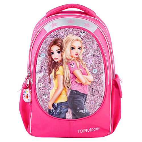 Školní batoh Top Model Hayden + Candy, růžový s flitry