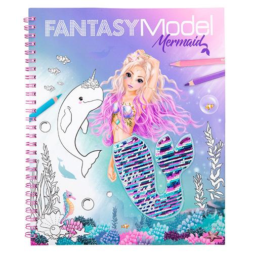 Omalovánky, kreativní sada Fantasy Model Mořská panna s měnícím se obrázkem a samolepkami